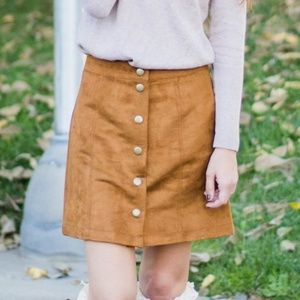 GAP Skirts - Suede Button Mini Skirt